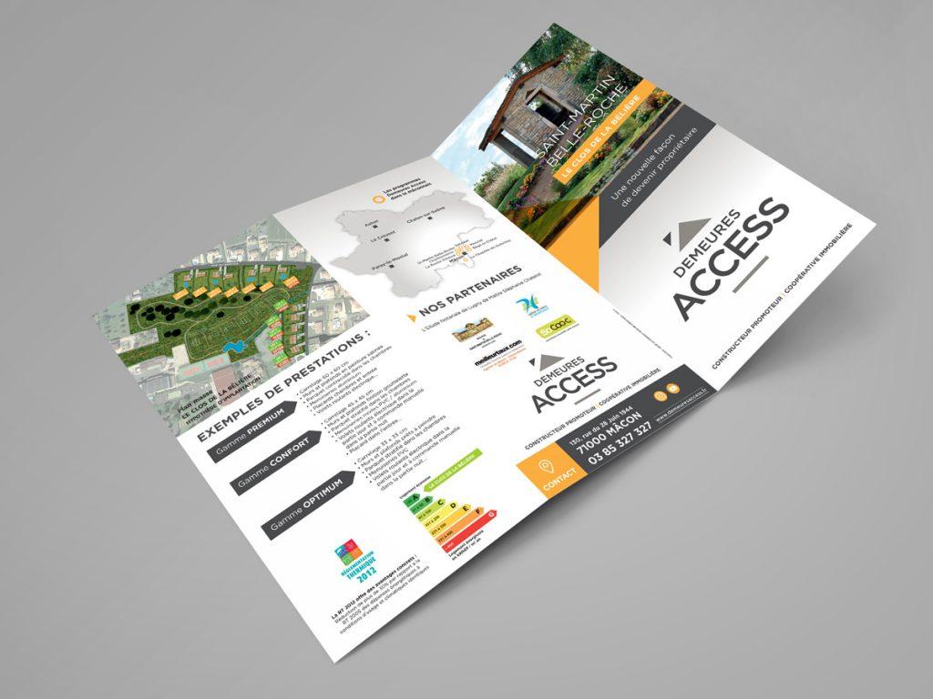 Flyer de vente Demeures Access - Recto