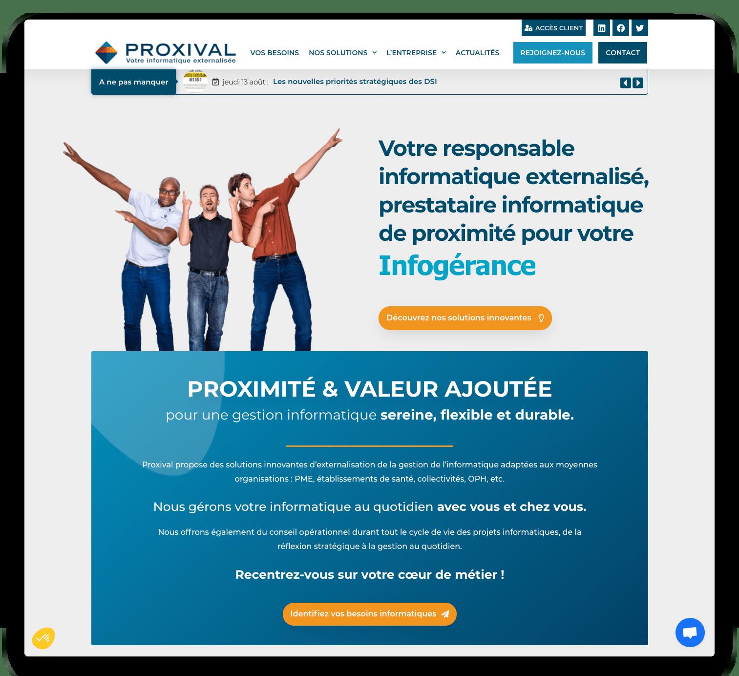 refonte site internet proxival.com